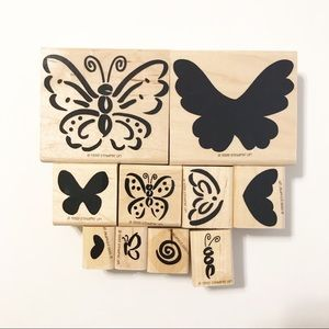 Stampin' Up Retired 1999 Flutterby set of 10